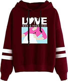 AQBZFHJ Fashion Unisex Harry-Styles Casual Round Necklace Stripe Top Hoodies Sweatshirts for Funs
