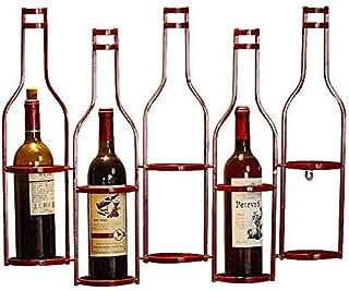 GIOAMH Casier à vin bouteilles murales porte-bouteilles en métal porte-bouteille maison cuisine Bar décor organisateur sus...