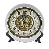 Reloj de 15,24 cm, placa decorativa de cerámica, diseño antiguo, un reloj vintage con una cara, elegante y moderno, para decoración de pared, accesorio para cenar, fiestas, bodas