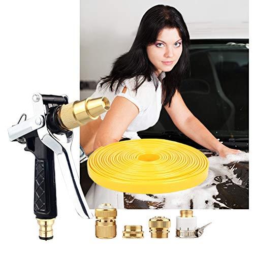Gartenschlauch-Düsensprüher Daumensteuerung und rutschhemmend for Bewässerungsanlagen, Reinigen, Waschen von Autos Düsen Spritzen (Size : 10m Suit)
