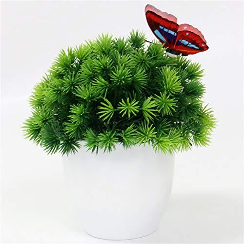 HYLZW Kunstbloem potplant Kunstmatige plant Bonsai kleine boom potplant Kunststof vervalste bloemendecoratie Decoratie Hotel Garden Decoraties