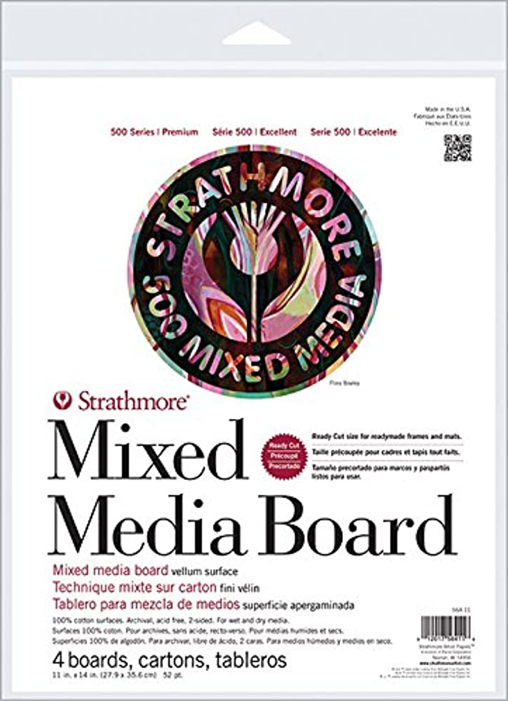 Strathmore ((564-8 500 Series Mixed Media Board, Vellum, 8