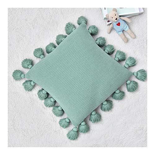 xldiannaojyb 45 * 45cm del Amortiguador de la Cubierta de Cama Cojines Decorativos for Sofá Oficina del Respaldo del Coche de la Cintura Funda de Almohada Lumbar Living Room Decoration (Color : C3)