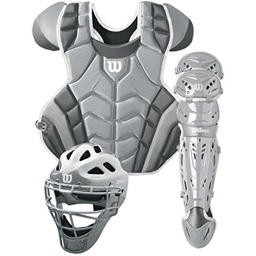 Wilson C1K Catcher's Gear Kit, Silver/White