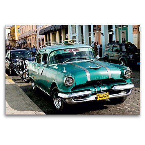 Premium Textil-Leinwand 120 x 80 cm Quer-Format Cuba Cars | Wandbild, HD-Bild auf Keilrahmen, Fertigbild auf hochwertigem Vlies, Leinwanddruck von Jürgen Klust