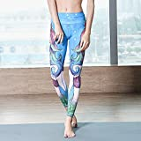 WARHBD Mujeres Pocketyoga Pant Leggings De Cintura Alta Con Estampado De Sirena Push Up Leggins...
