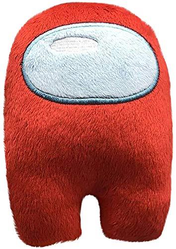 Among Us Fanartikel Plüschspielzeug, Crewmate Plushie, Plüsch Unter Uns Kuscheltier Plüschtier-Spielpuppe, Niedliches Puppenplüsch Geschenk Für Kinder Erwachsene (Rot)