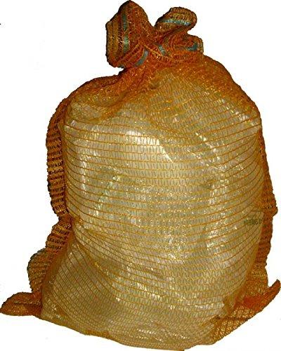 Kartoffelsäcke Raschelsäcke 500 x 800 mm goldgelb 25 kg mit Zugband 100 Stück