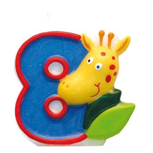 Riethmuller Bougie Safari N°8 - Anniversaire Enfant - Goûter enfant [Jouet]