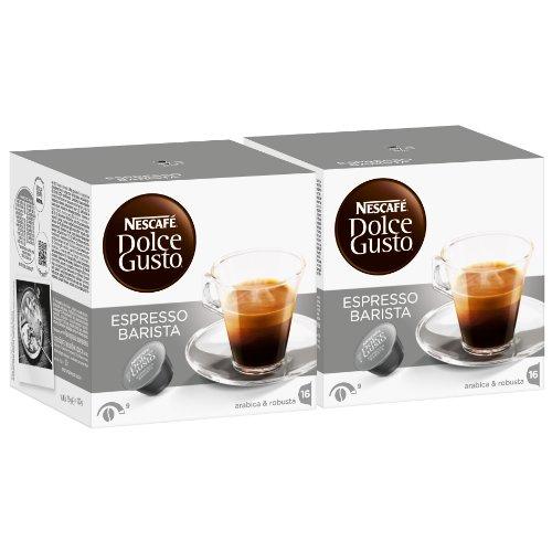 Nescafé Dolce Gusto Espresso Barista, 2 Confezioni, 2 x 16 Capsule