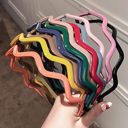 12 Pcs Filles/Femmes Couleur Mixte Couvert Bandeaux Dents Peigne Cheveux Cerceau Chapeaux Accessoire