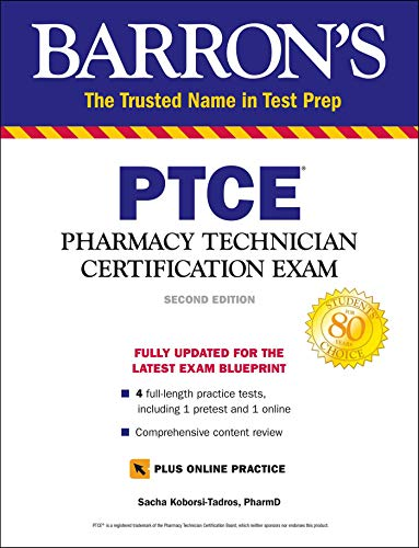 PTCE with Online Test: Pharmacy Technician Certification Exam (Barron's...