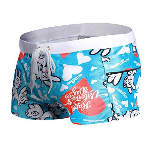 Yowablo Herren Badehose Mode Bodybuild Gradient Trunks Strand Badeshorts Boxer (L,8Blau)