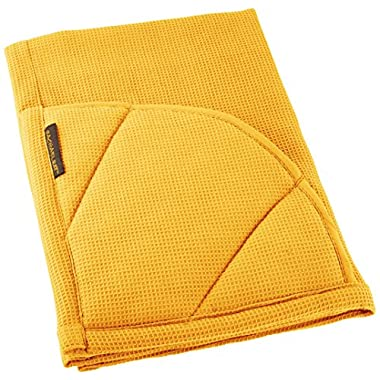 Rachael Ray Multifunctional 2-in-1 Moppine, Ultra Absorbent Kitchen Towel & Heat Resistant Pot Holder, Yellow