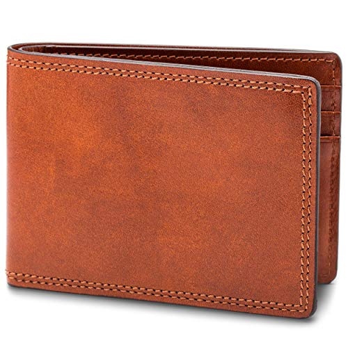Bosca Men's Small Bifold Leather Wallet In Amber