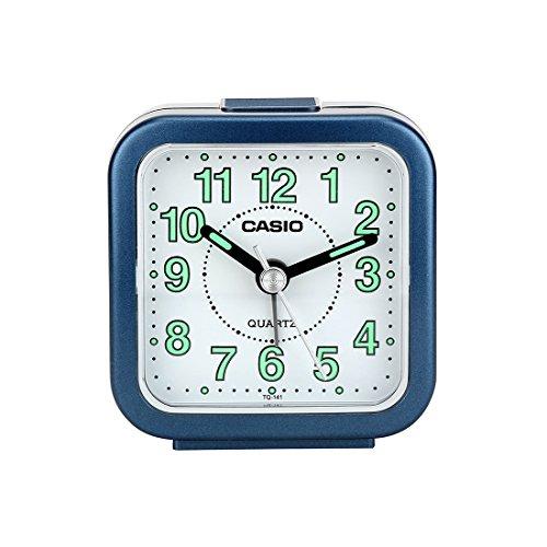 Casio TQ-141-2DF Analog Table Clock, Blue