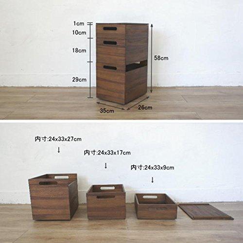 ランドマーク(KAGLAB)『アジアン家具スタッキングボックス3段