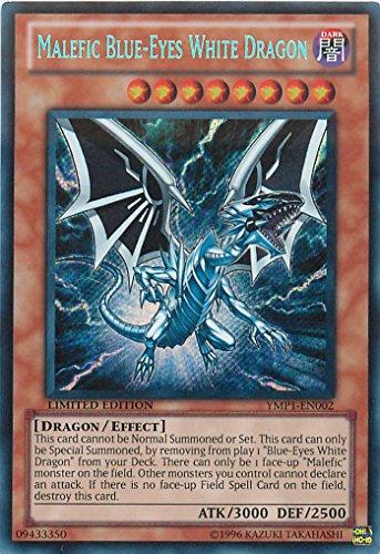 Yu-Gi-Oh! - Malefic Blue-Eyes White Dragon (YMP1-EN002) - 3D Bonds Beyond Time Movie Pack - Limited Edition - Secret Rare