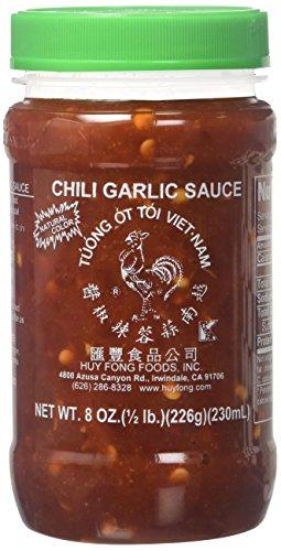 Huy Fong, Chili Garlic Sauce, 8-Ounce Jars (Pack of 6)