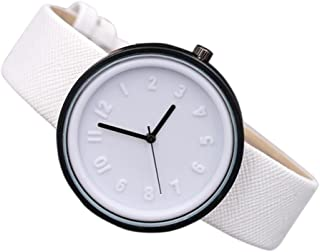 Unisex Simple Fashion Number Watches Quartz Canvas Belt Wrist Watch by Rakkiss
