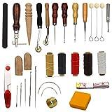 25 pezzi accessori accessori per cucito, strumenti di cucito a mano in pelle