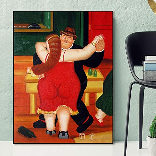 HNTHBZ Parodia Mona Lisa Pintada Arte Pintura Retrato Cartel e Impresiones Arte de la Pared de la Vendimia Imagen del Cartel Decorativo Decoración (Color : Lye1002 05, Size (Inch) : No Frame 50x70cm)