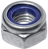 AERZETIX: 10x Tuercas hexagonales autoinsertables M8 13mm H8mm DIN985 Acero Inoxidable A2 C19138