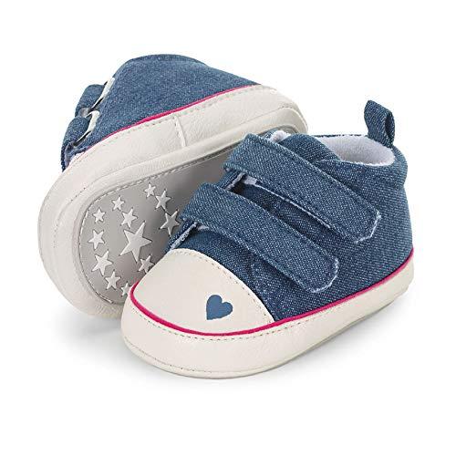 Sterntaler Jungen Mädchen Baby-Schuh Stiefel, Blau (Marine 300), 21/22 EU