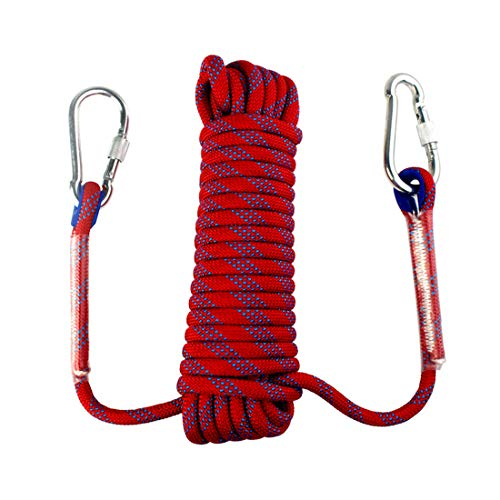 Yolyoo Outdoor Climbing Rope 10mm Static Rock Climbing Rope High Strength Accessory Fire Escape Safety Rappelling Rope 49ft