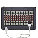 UTK Far Infrared Heating Pad for Back Pain Neck Pain Cramps 21'x31' [FSA or HSA eligible] Dense 108 Jade and 42 Tourmaline Stones Matrix 150 Watt Fast Heat Up Storage Bag Included [Model Medium pro]