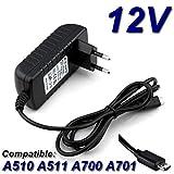TOP CHARGEUR * Adaptateur Secteur Alimentation Chargeur 12V pour Tablette Acer Iconia Tab A510 A511 A700 A701