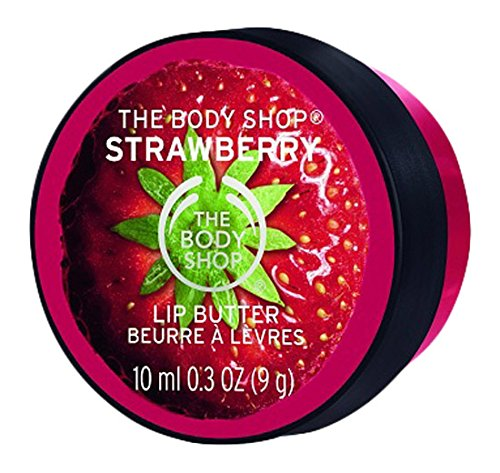 The Body Shop Lip Butter for Unisex, Strawberry, 0.3 Ounce