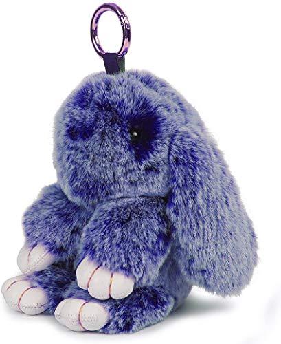 Joli porte-clés lapin - Décoration de voiture - Cadeau de Saint Valentin, fête des mères, Pâques - 15 x 9 cm