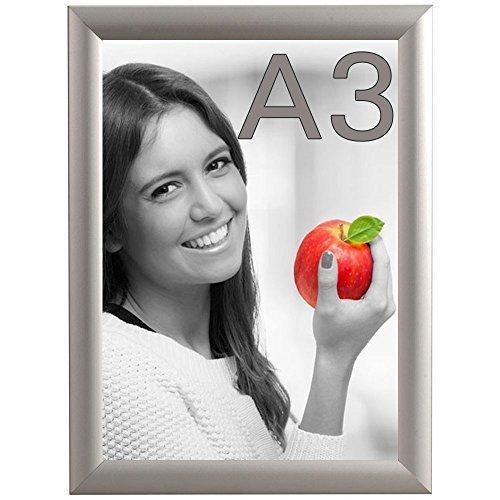DIN A3 Alu Klapprahmen Wechselrahmen Bilderrahmen Plakatrahmen Aluminium mit 25mm Rahmen