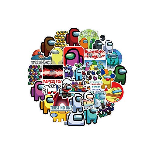 Wondery 100PCS Among Us Waterproof Stickers, Crewmate Hot Game Stickers for Laptops,Phone,Bottles,Luggage,Cool Gadget Cheap Funny Gift