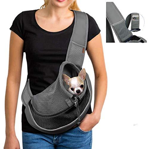 ZHOVAEAL Haustier Tragetasche für Hunde Katzen freihändig für Outdoor-Reisen Schultertasche für Hunde Katzen zum Spazierengehen U-Bahn für den täglichen Gebrauch ( Tiere unter 4,1 kg)schwarz