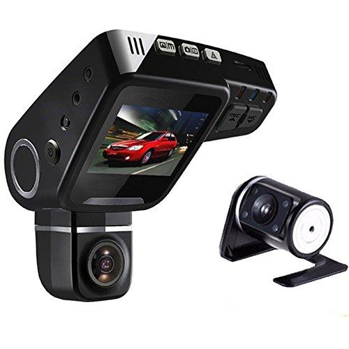 PolarLander Dual Lens Voiture DVR Dashboard Caméra C10s Plus Full HD 1080 P 2.0 Pouces LCD 170 Degrés G-Capteur Vidéo Enregistreur Dash Cam