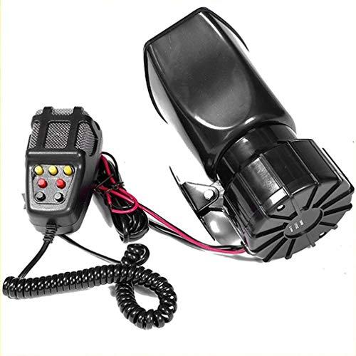 100W 12V 7 Sonido Fuerte Alarma de Coche policía Sirena de Cuerno de Bomberos Sistema de micrófono de Altavoz PA Negro /