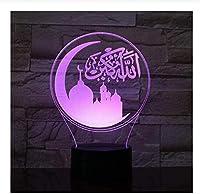 3D3D小型ランプLuminariaDe Mesa USBLEDアクリルLED3D常夜灯クリスマスデコレーション