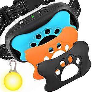GoPetee Collier Anti aboiement Chien 2 Modes:Son et Vibration sans Choc Collier reglable pour Petit Moyen Grand Chien