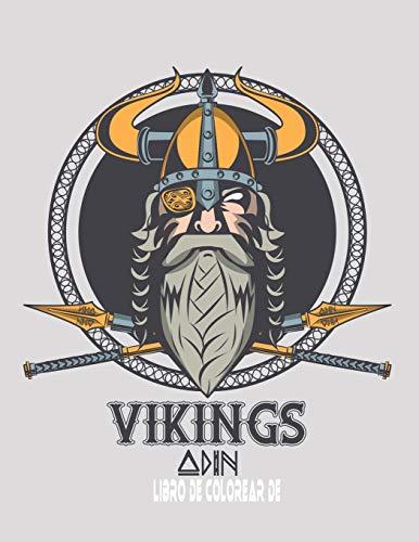 Libro de colorear de vikings: Libro de colorear de Valhalla para amantes de los vikingos
