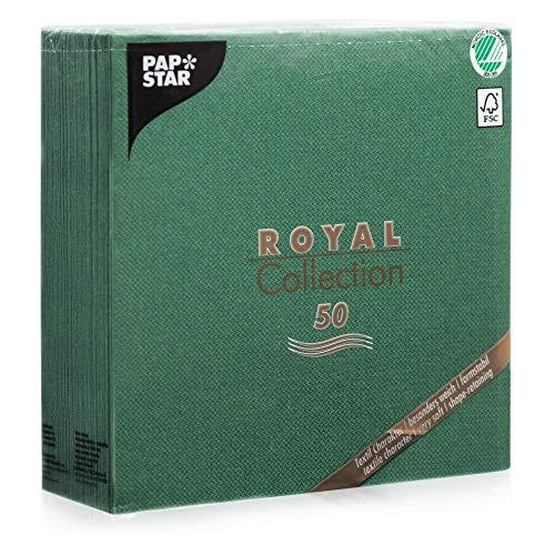 Papstar 'ROYAL Collection' 1/4-Falz 40 cm x 40 cm dunkelgrün, #11606, 1 X 50er Pack