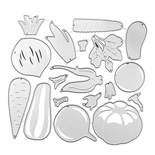 KunmniZ Gemüse Metallschneidwerkzeuge Schablonen Scrapbooking DIY Album Stempel Papierprägung