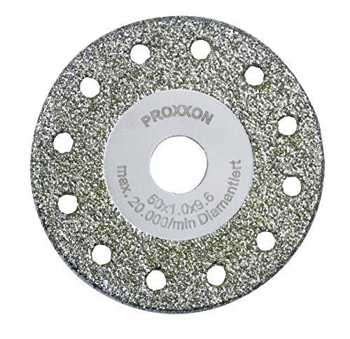 Proxxon Diamentierte Trenn-und Profilierscheibe (Schleifscheibe ø 50 mm, Lochung 10 mm, für Glas, Porzellan, Fliesen, für Winkelschleifer LHW/A) 28557