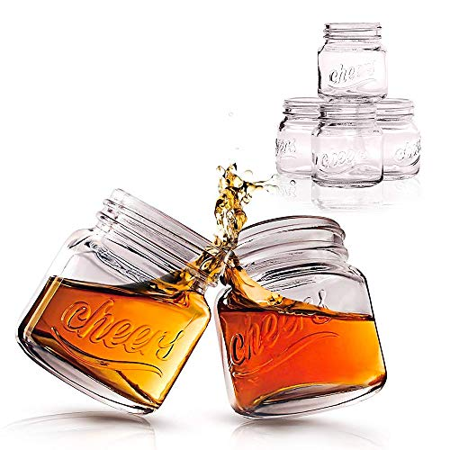 Protocol Mason Jar Shot Glasses | Set of 6 | 2 Oz | Dishwasher Safe Drinking Glasses| Perfect for...