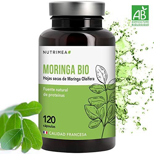 Moringa Oleifera Bio 120 Cápsulas | Más Vitamina C que las Naranjas | Superfood Antioxidante Natural Sistema Inmunológico Energía | 400 mg Apto para Veganos | Fabricado en Francia