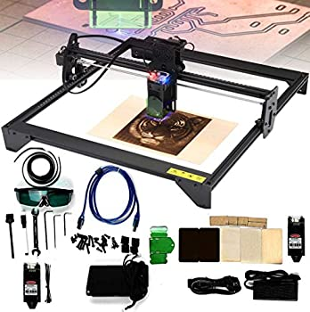 HPDOM Laser Engraving Machine Kit 20W Laser CNC Cutter and Engraving Machine Precision Engraving Cutting with Laser Protective Cover DIY Carving Kit for Wood Plastic Metal Leather 410400mm