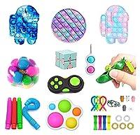 子供の減圧玩具セット、スクイーズタイプ早期学習ストレスリリーフトイズキット、ストレス不安のための官能玩具、子供のための贈り物&成人向けの贈り物(PCSA) (Color : Pcsa)