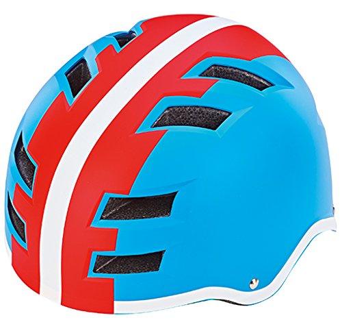Prophete Fahrradhelm, Größe: 58-61cm, blau/Rot/Weiß, 58-61