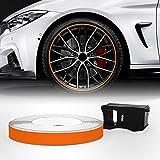 Quattroerre 10344 Wheel Trim Strisce Adesive Rifrangenti con Applicatore per Cerchi Auto, ...